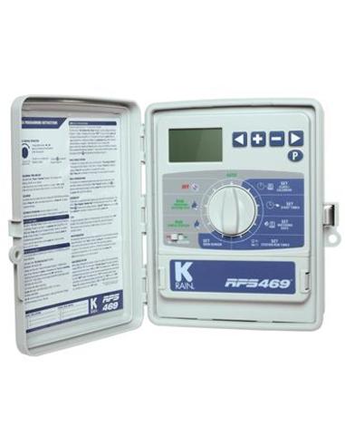 K-Rain beregeningscomputer, type RPS 469, 6 stations, incl. interne trafo