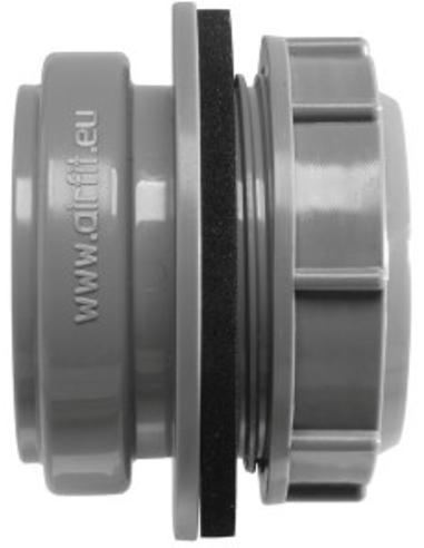 Airfit pp buisaansluiting tbv reservoir, grijs, 50 mm