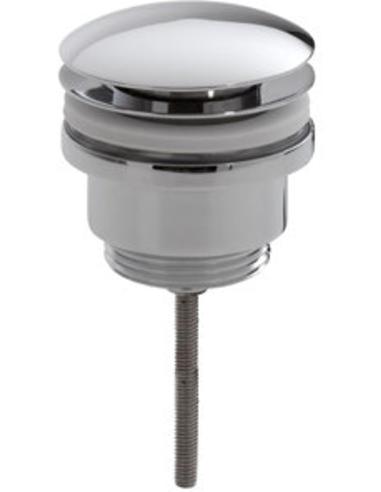 Afvoerplug, 1¼'', afsluitbaar, laag model, chroom
