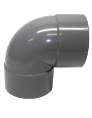 Pvc bocht 88°, 2x inw lijm, grijs, 32 mm