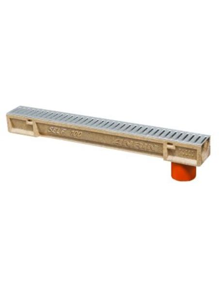 Anrin poly. lijngoot, SELF-100, gegalv rooster+uitl,100x10cm