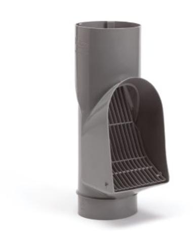 Bladscheider voor standleiding, grijs, 110 mm