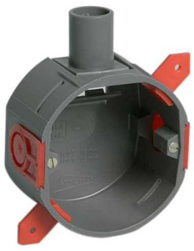 Attema® hollewand inbouwdoos, 40mm, 16mm, 1 invoer