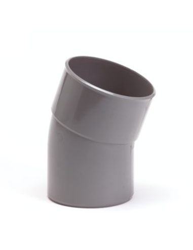 Pvc bocht 22°, inw x uitwendig lijm, grijs, KOMO, 75 mm