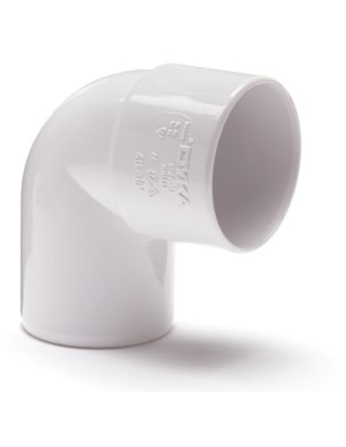 Nicoll pvc bocht 90°,inwendig x uitwendig lijm,wit,KOMO,32mm
