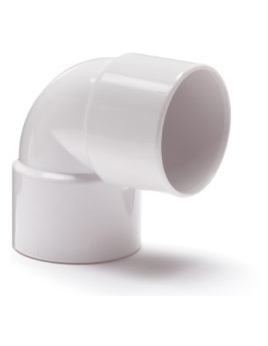 Nicoll® pvc bocht 90°, 2x inwendig lijm, wit, KOMO, 32 mm