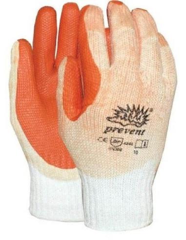 Handschoen latex rood prevent