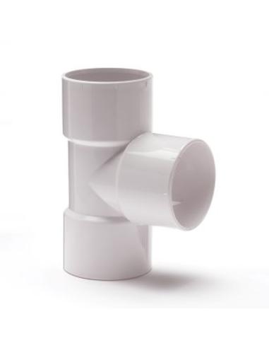 Nicoll® pvc T-stuk 90°, 3x inwendig lijm, wit, KOMO, 32 mm
