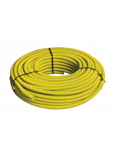 Multiskin gas 16x2 m/mantel L50m geel PEXc/AL/PEX