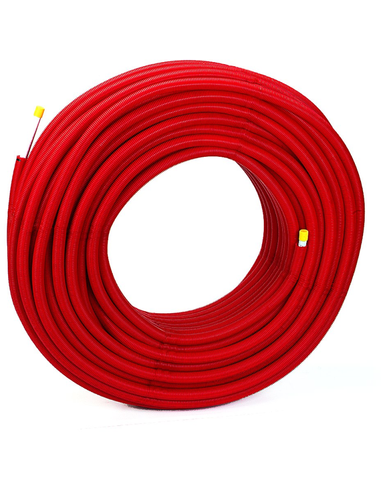 Multiskin 14x2 m/mantel L100m rood PEXc/AL/PEX p/mtr