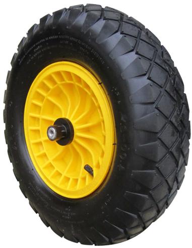 Compleet wiel t.b.v. kruiwagen, luchtband, grote noppen