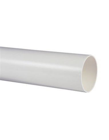 Pvc afvoerbuis met gladde einden, wit, l 4 m, 32 mm