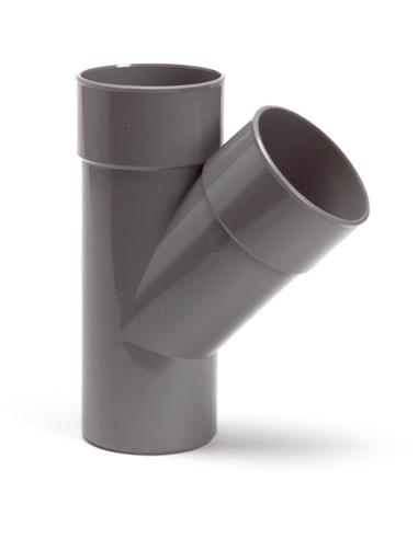 Pvc T-stuk 45°, 2x inw lijm/1x uitwendig lijm, 40 mm