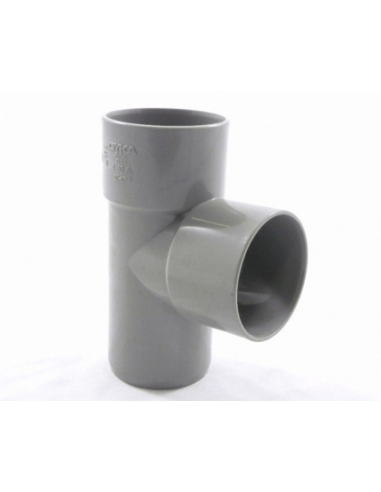 Pvc T-stuk 88°, 2x inw lijm/1x uitwendig lijm, 40 mm