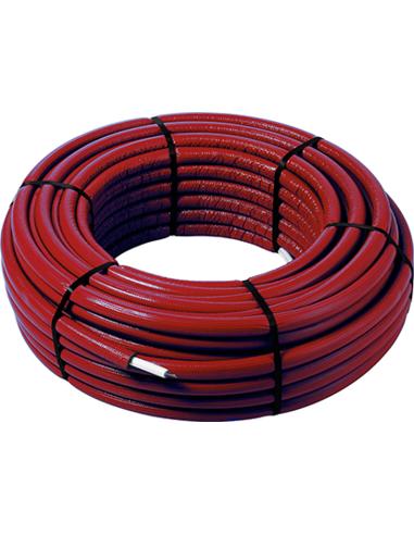 Smartpress Fosta buis 16x2,0 PE-Xc/AL/PE-Xc rood (75m) isola