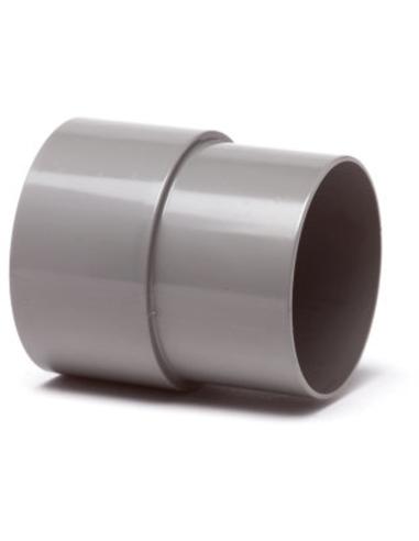 Pvc hwa mof, grijs, inw lijm x verjongd spie, 80 mm