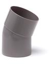 Pvc hwa bocht 22°, grijs, inw lijm x spie, 80 mm