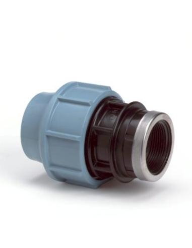 "Unidelta schroefkoppeling, 16 bar, klem x bi.dr., 16 mmx½"""