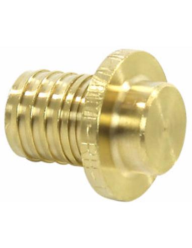 TECEflex® afsluitplug, messing, pers, 16 mm