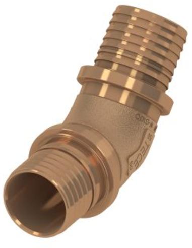 TECEflex® knie 45°, brons, 2x pers, 25 x 25 mm