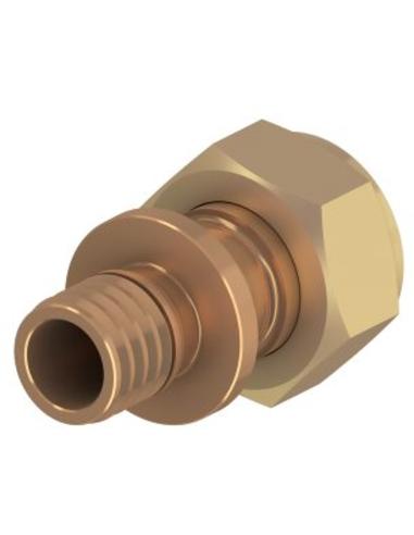 "TECEflex® overgangsstuk, brons, 16mm x ½"", vlakke dichting"