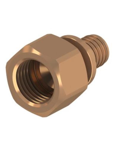 "TECEflex® schroefkoppeling, brons, persxbi.dr., 16 mmx½"""