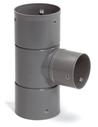 Pvc klikverloop T-stuk 90° voor drainagebuis, 80 x 60 mm