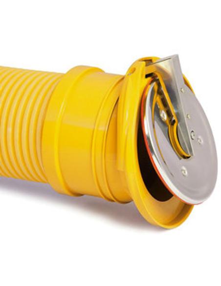Karmat® pp eindklep met rvs klep en drainage aansl, 72-100mm