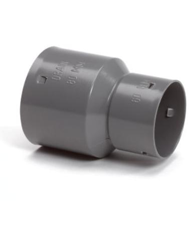 Klik verloopmof voor drainagebuis, pvc, 50 x 60 mm