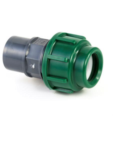 VDL pe-/pvc koppeling, klem x inw./uitw. lijm, 16 x 25/32 mm