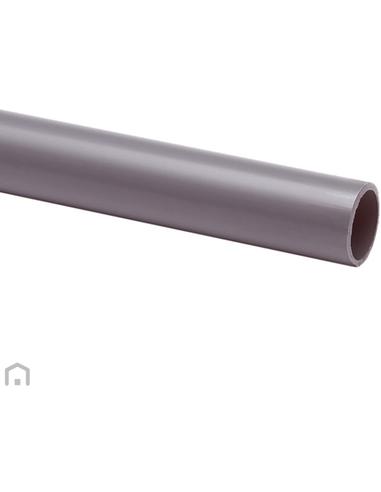 Pvc elektrabuis, grijs, slagvast, 19 mm, 4 m