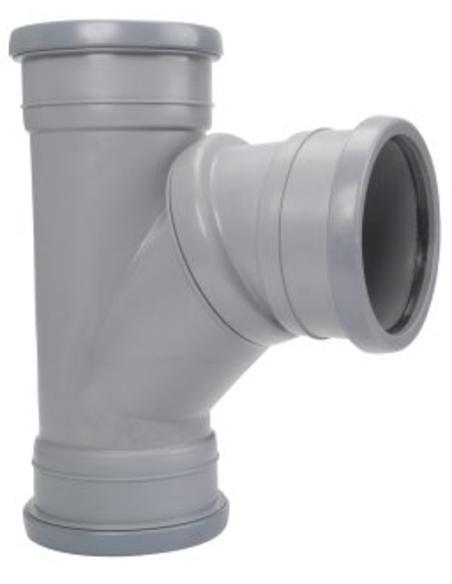 Airfit pp verstelbaar T-stuk 45°-90°, 3x manchet,grijs,32mm