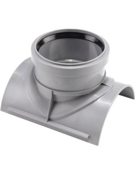Airfit zadelkoppelstuk set, grijs, 75x50mm